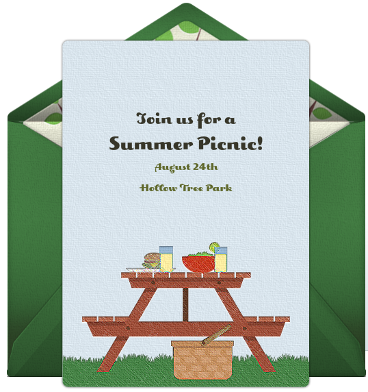 invitations for a summer picnic