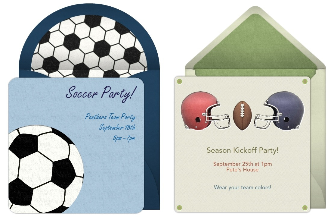 use free invitations for fall sporting events