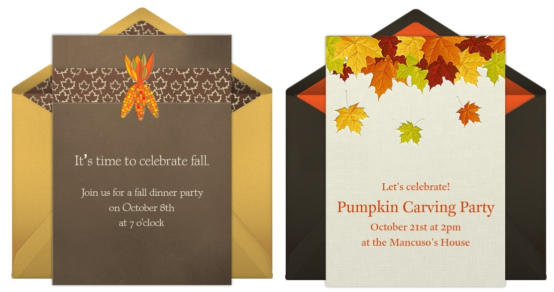 Fall party invitations for all kinds of party planning stopboris Choice Image