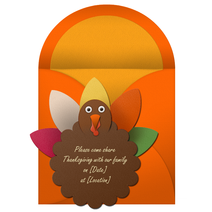 Fun Invites for Your Thanksgiving Feast