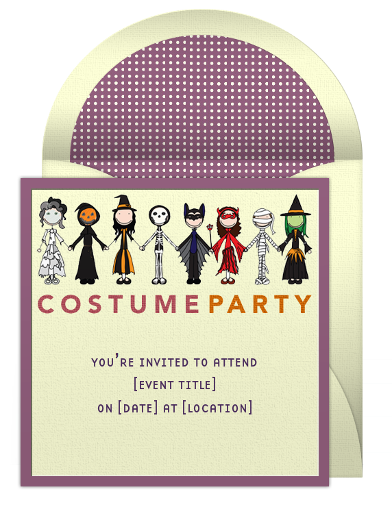 Halloween Party Invitations - Birthday party invitation reminder