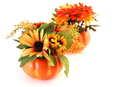 Easy thanksgiving table centerpieces for Simple thanksgiving flower arrangements