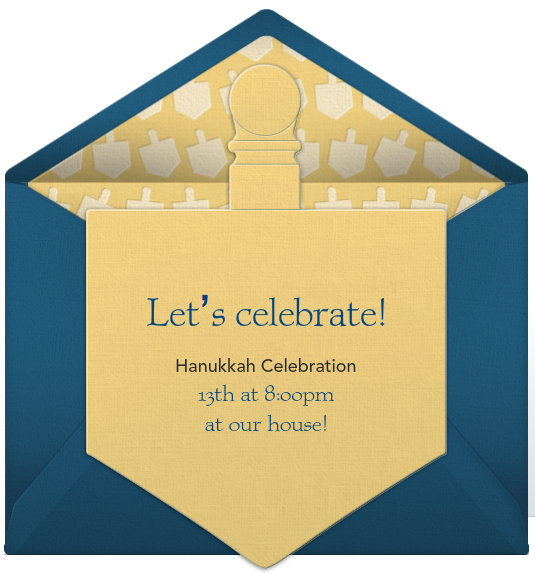 Hanukkah Invitation Wording