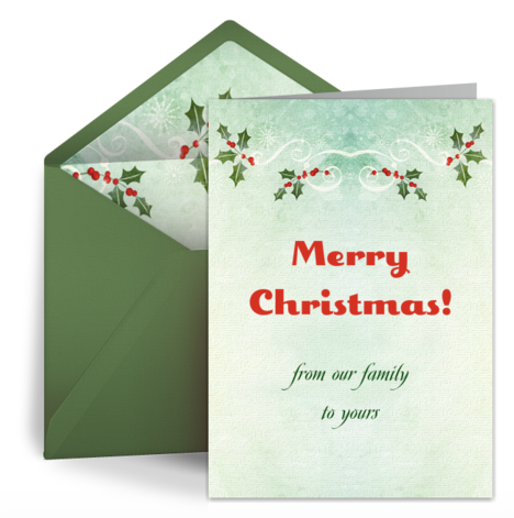 free ecards for christmas, Greeting card