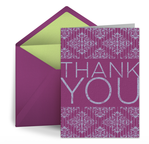 Proper Etiquette For Sending Thank You Notes For Wedding Gifts : Here are four tips for writing free thank you eCards :