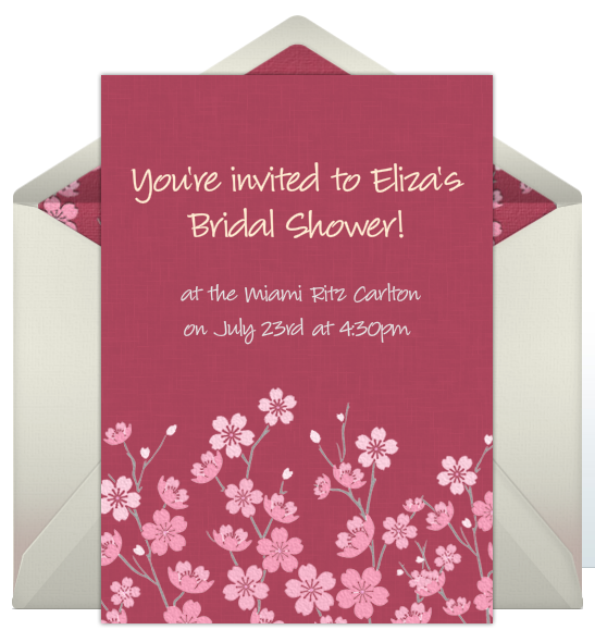 Printable Purple Swirl Design Bridal Shower Invitation Digital Jpg
