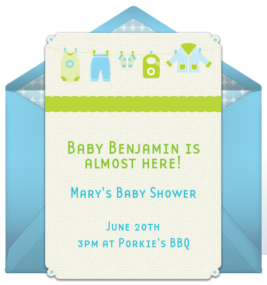 Email invitations baby showers for Free email invitation