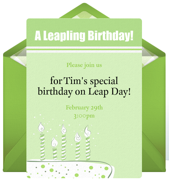 Free Leap Day Birthday Party Invitations – Punchbowl Birthday Invitations