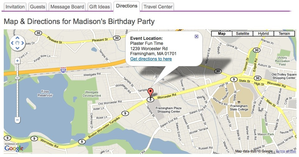 Add A Map To Your Digital Invitation