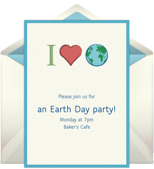 Free Email Invitations Earth Day