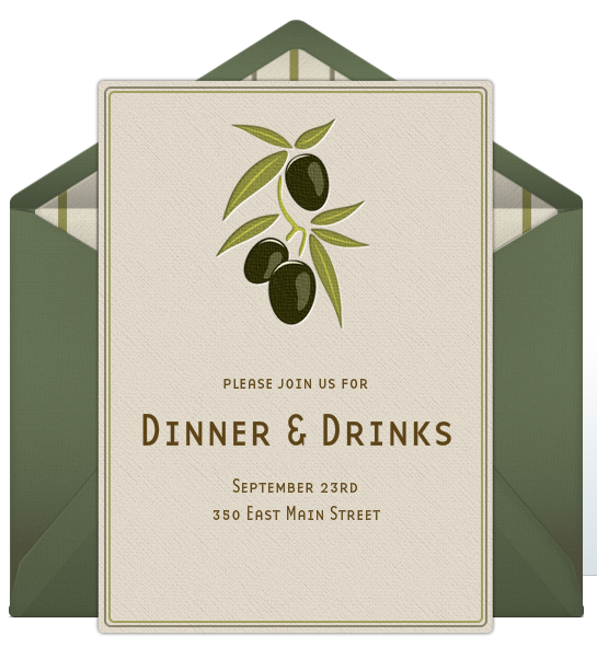 dinner party invitations, Party invitations