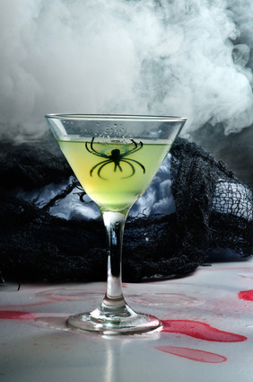 halloween drinks with dry ice