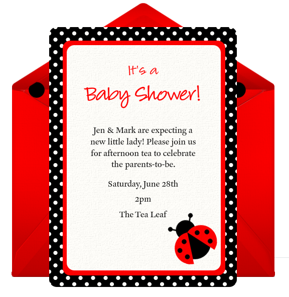 Ladybug Invitation Ideas with amazing invitation design