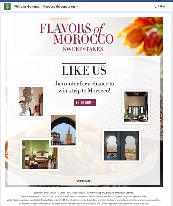 williams sonoma facebook contest