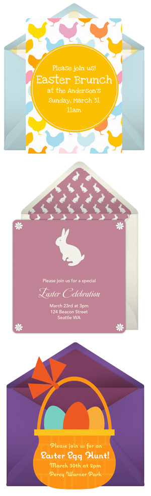 Free Easter invitations by Punchbowl