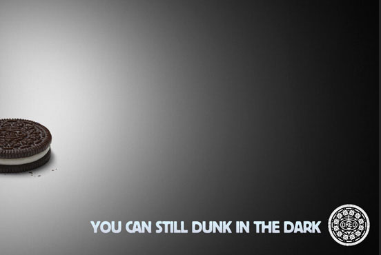 oreo dunk in the dark real time marketing