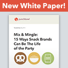 party snacks white paper