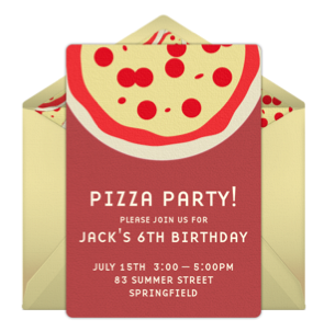 pizza party invitation
