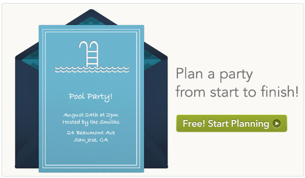 End of Summer Pool Party BBQ – End of Summer Party Invitations