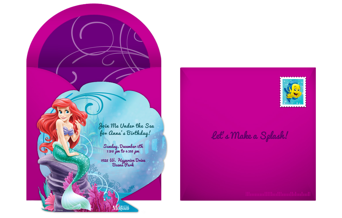 Plan a fanciful little mermaid birthday party free little mermaid online invitation filmwisefo