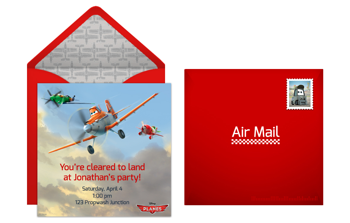 Plan a high flying planes birthday party free planes online invitation filmwisefo