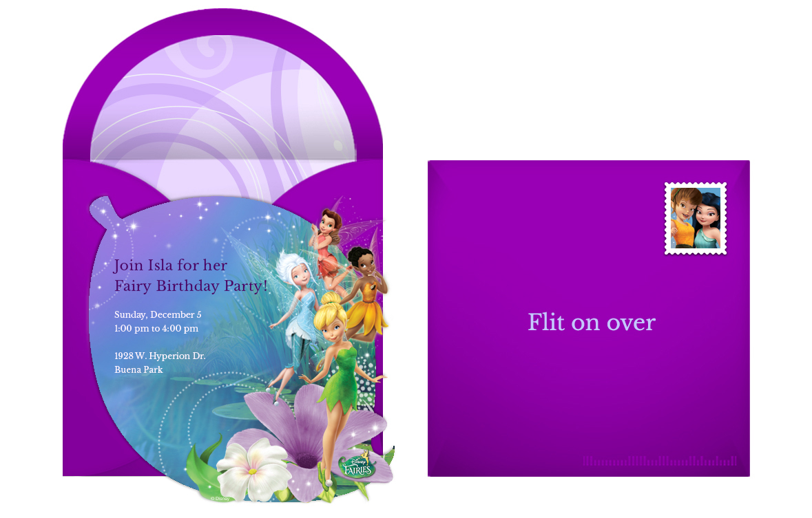 Free Disney Fairies Online Invitation