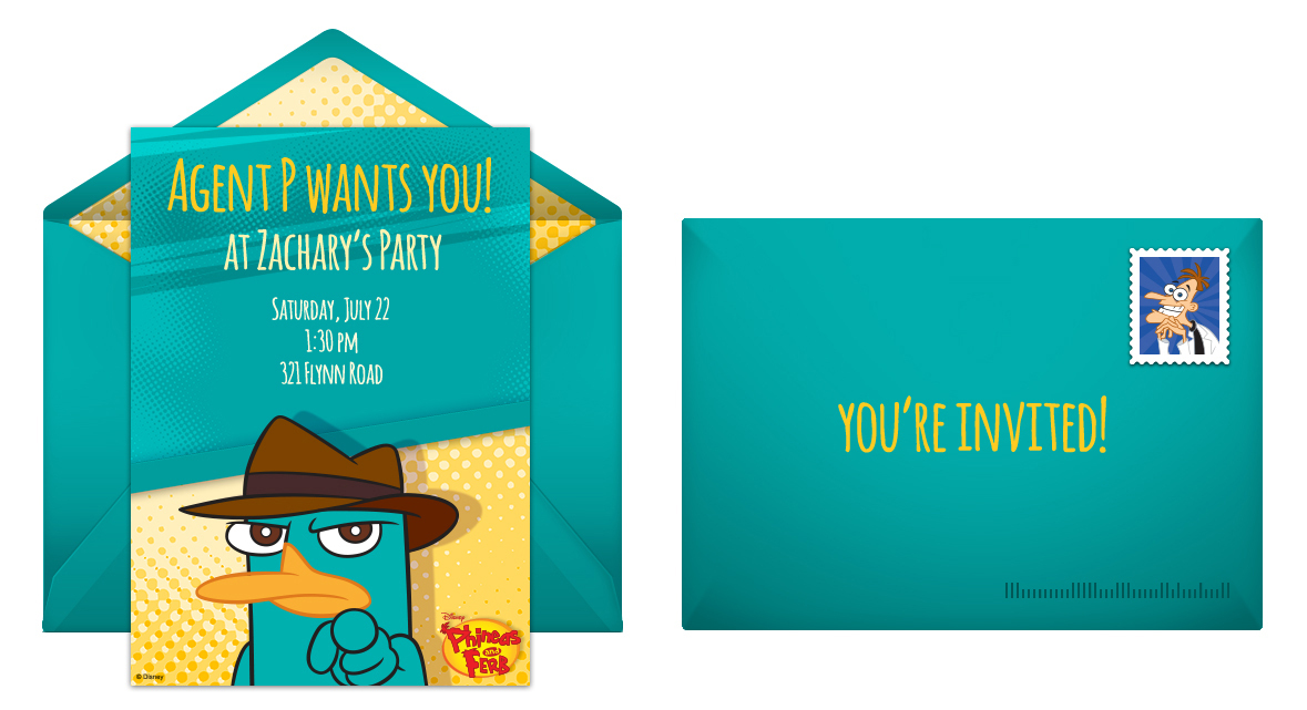 Plan a Zany Phineas and Ferb Birthday Party – Phineas and Ferb Birthday Card