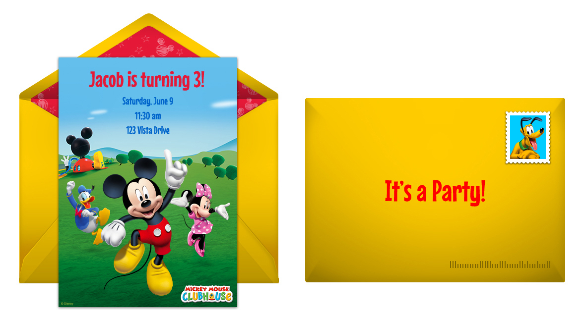 Free Mickey Mouse Clubhouse Online Invitation