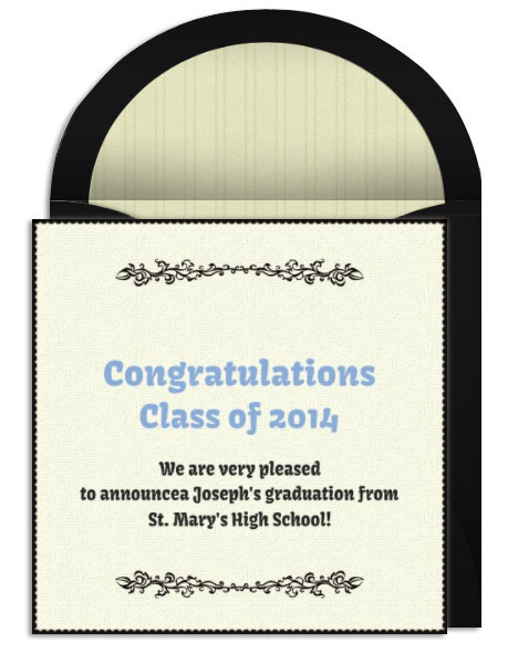 graduation announcement wording