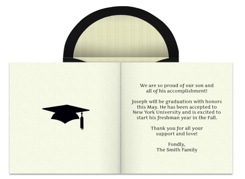 Graduation announcement wording free online graduation announcement filmwisefo