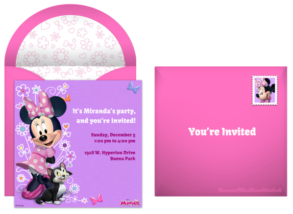 Hang Up A Large Happy Birthday Banner Decorated With Pink And White Polka Dots Of Course Include Picture Minnie Mouse