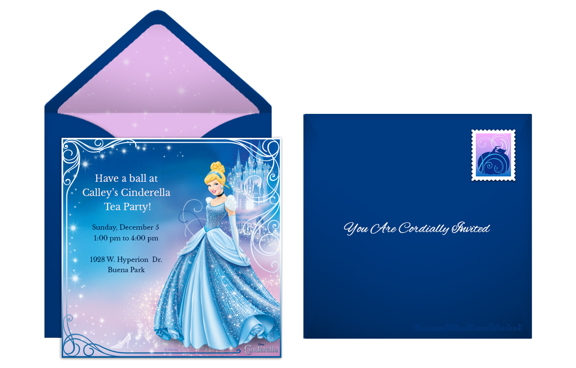 Plan a fairytale cinderella birthday party cinderella online invitation bookmarktalkfo Gallery