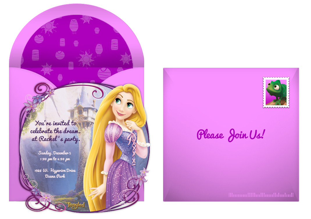 Plan a dreamy tangled birthday party free tangled online invitation filmwisefo