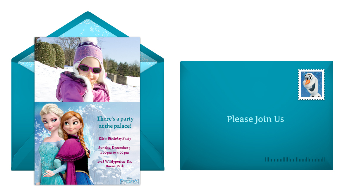 Plan a whimsical frozen birthday party frozen online invitation stopboris Image collections