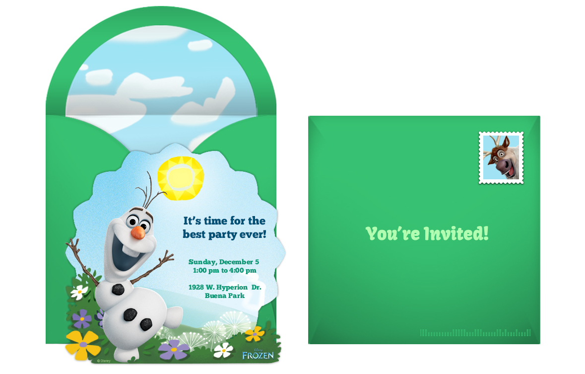 Frozen Birthday Party Invitations Gangcraftnet - Birthday invitation cards size