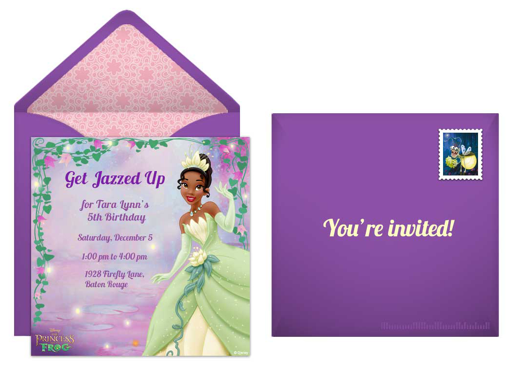 Plan a Jazzy Princess and the Frog Birthday Party – Princess Tiana Party Invitations