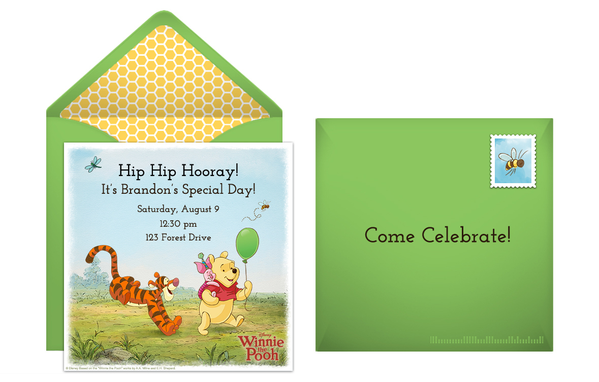 Winnie The Pooh Baby Shower - Winnie the pooh baby shower invitations templates free