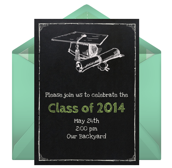 free online digital graduation invitation