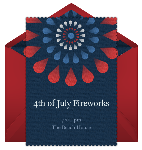 4th of July Online Invitation