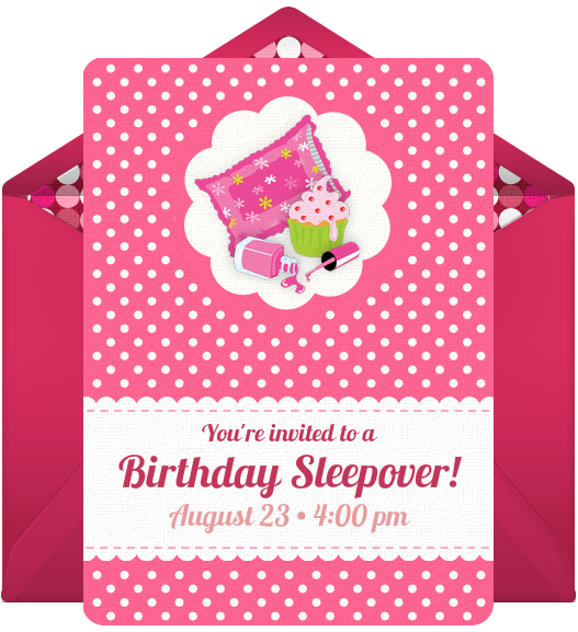 slumber party sleepover birthday