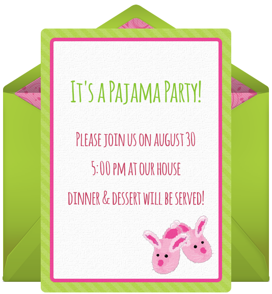Sleepover Slumber Party Free Online Invitation Birthday