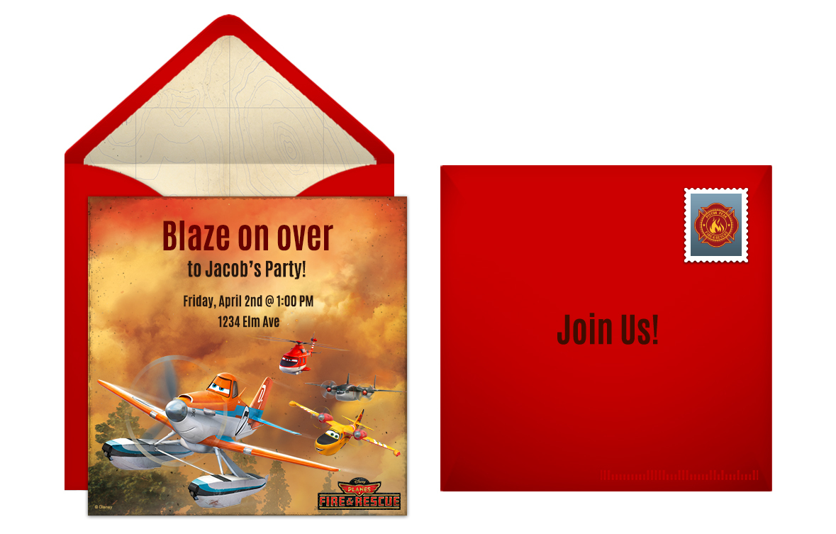 Plan a Dynamic Planes: Fire & Rescue Birthday Party