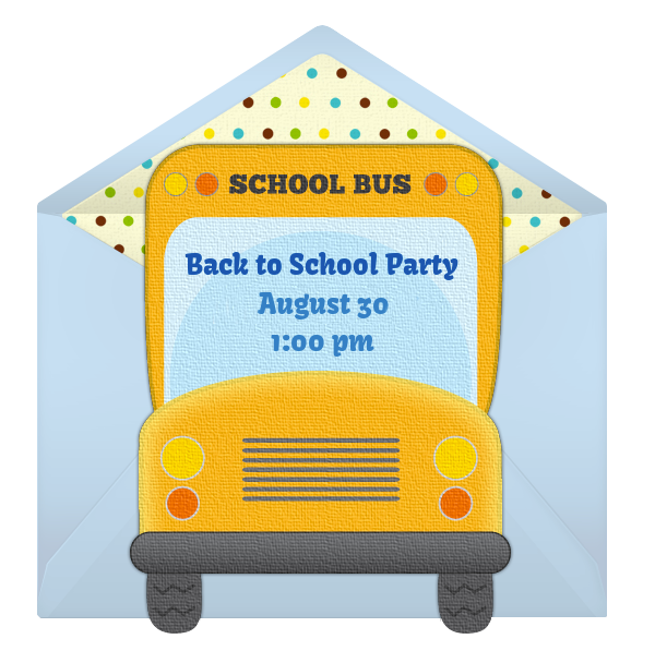 free back to school online invitation