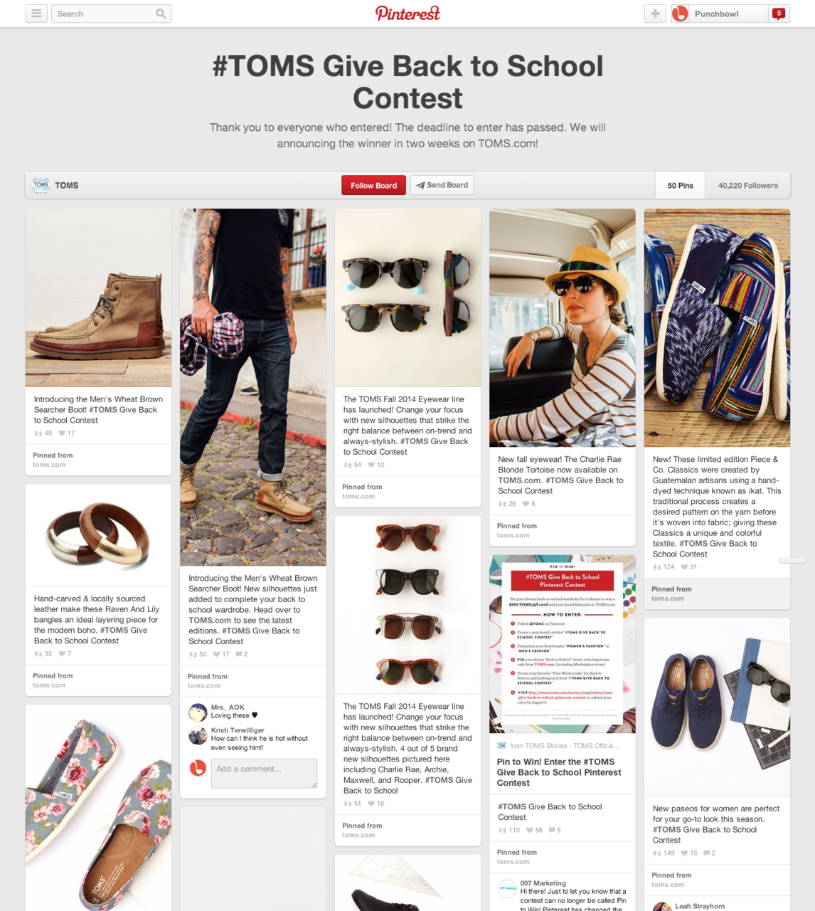 toms pinterest back to school
