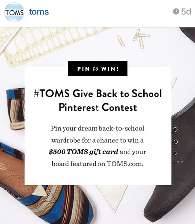 toms instagram back to school