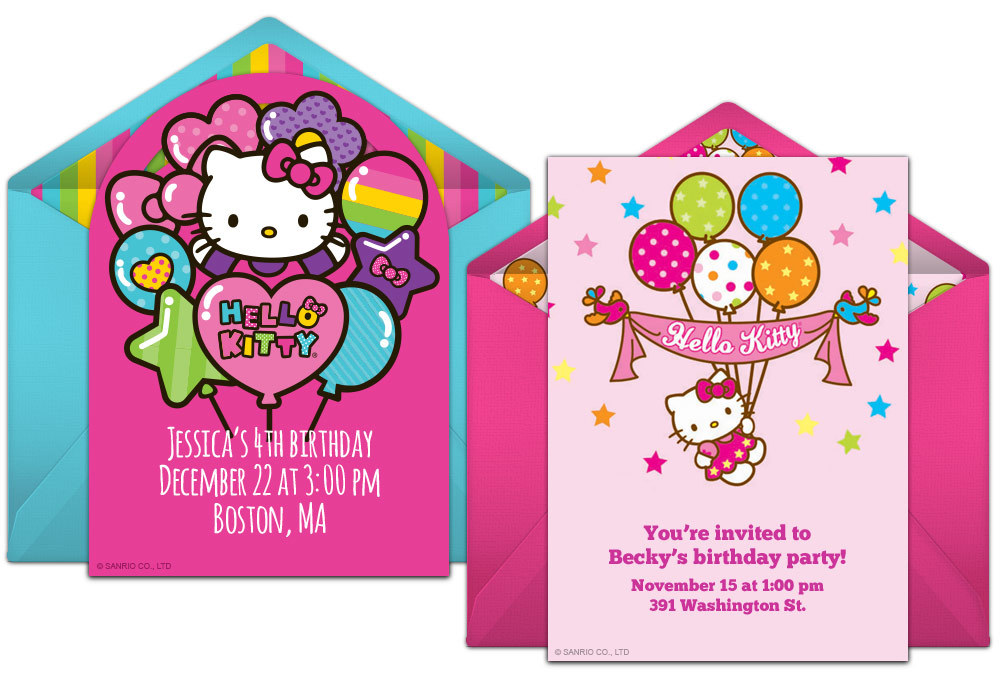 Free Hello Kitty Online Invitations 10th Birthday Party