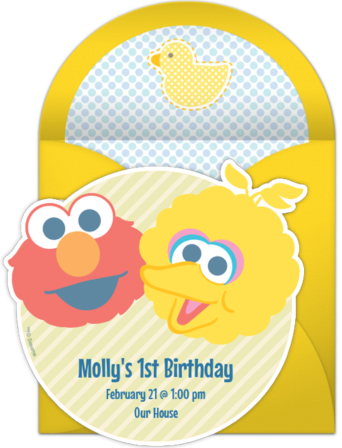 Sesame Street 1st Birthday – Sesame Street 1st Birthday Invitations