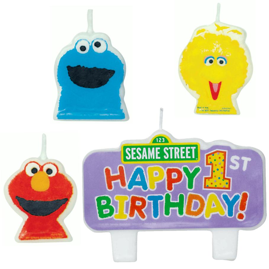 Sesame Street Cake Candles