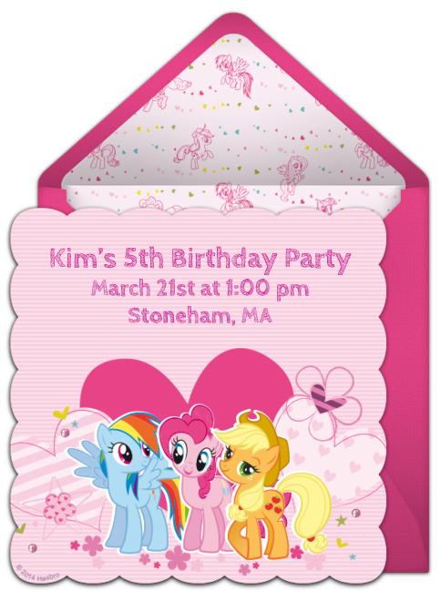 My Little Pony Birthday – My Little Pony Birthday Invites
