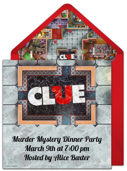 How to host a murder mystery dinner party punchbowl murder mystery dinner party invitation clue online invitation stopboris Images